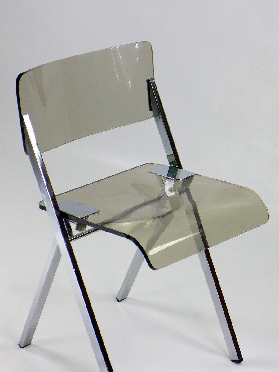 klappstuhl aus plexiglas 1970er bei pamono kaufen. Black Bedroom Furniture Sets. Home Design Ideas