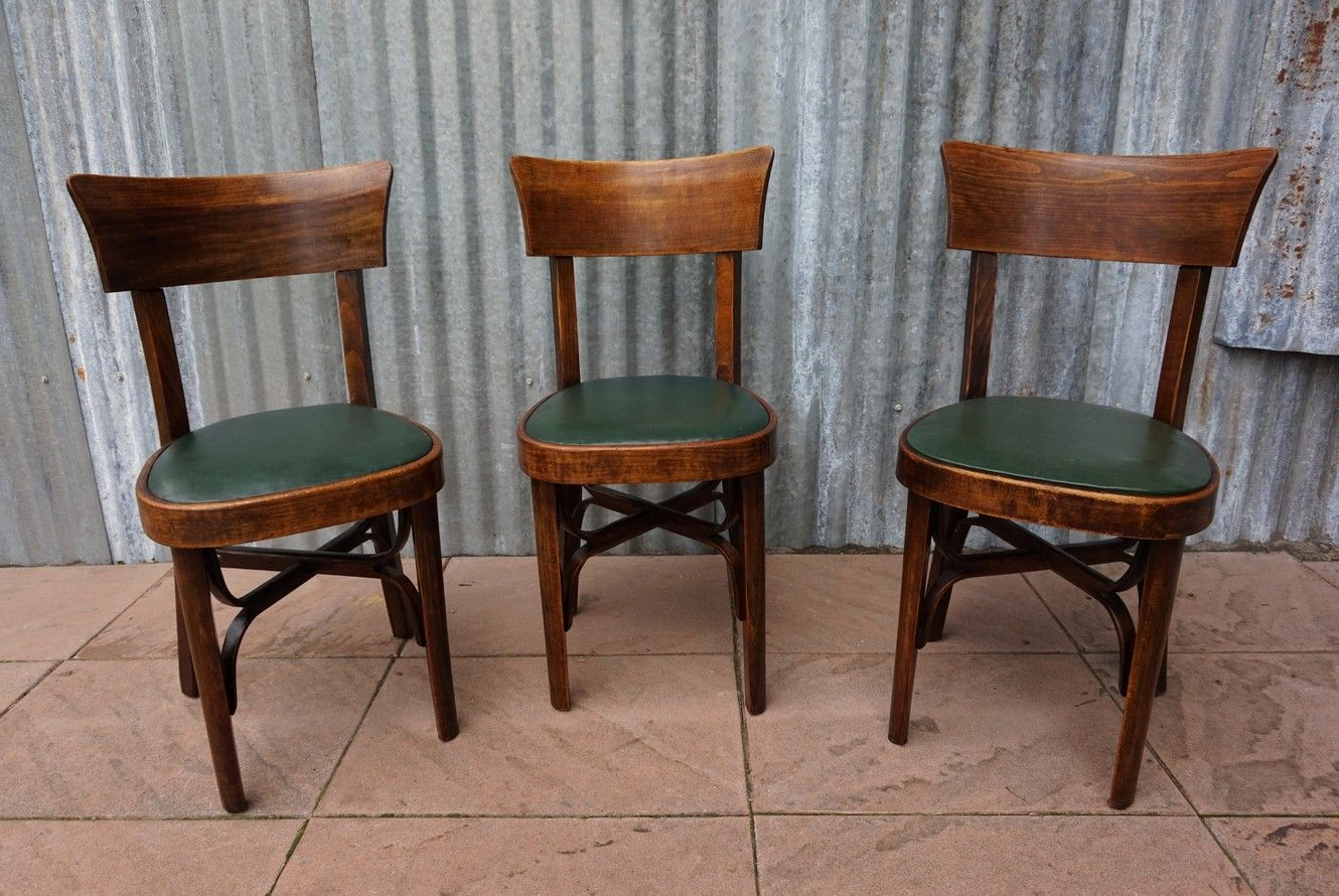 Vintage French Bistro Chairs, Set of 3 - Vintage French Bistro Chairs, Set Of 3 For Sale At Pamono