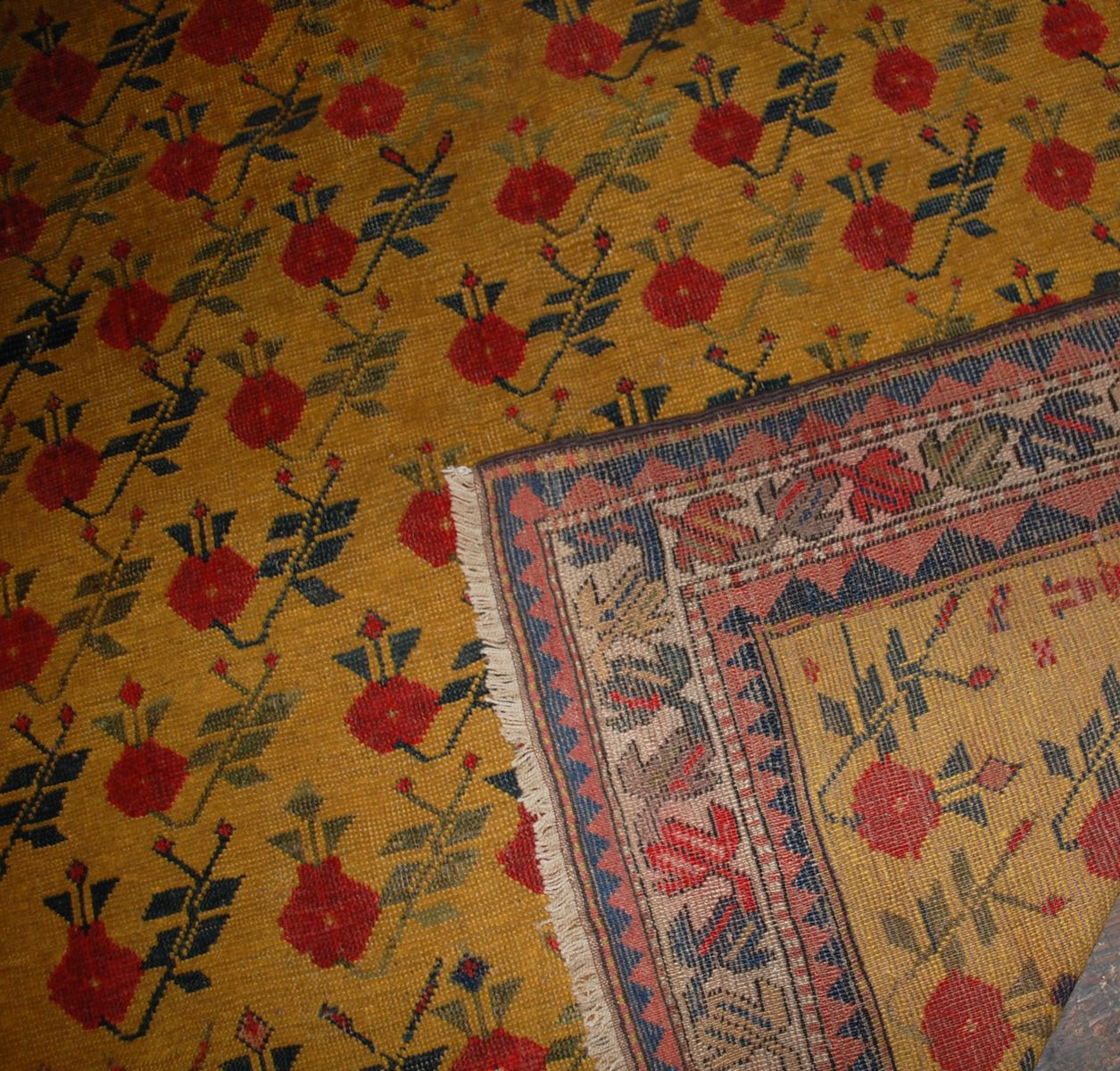 Caucasian Rugs Uk: Antique Handmade Caucasian Karabagh Rug, 1880s For Sale At