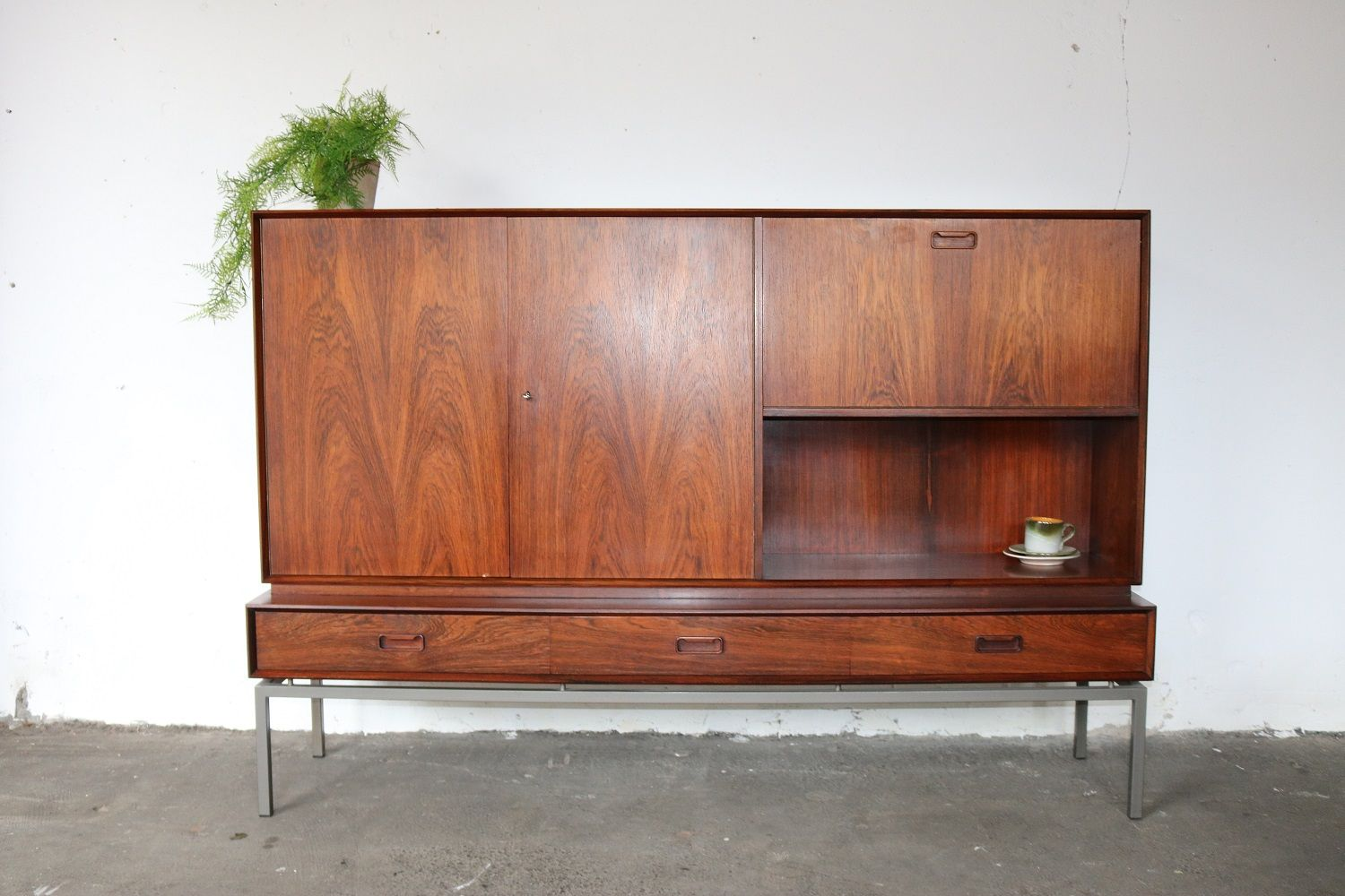 vintage highboard from topform 1960s for sale at pamono. Black Bedroom Furniture Sets. Home Design Ideas