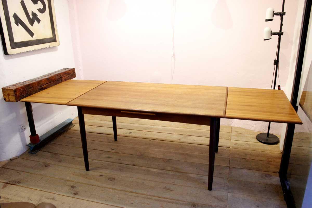ausziehbarer mid century tisch bei pamono kaufen. Black Bedroom Furniture Sets. Home Design Ideas