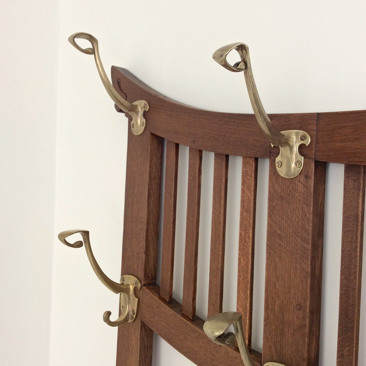 wall mounted coat rack by gustave serrurier bovy for serrurier cie 1900s for sale at pamono. Black Bedroom Furniture Sets. Home Design Ideas