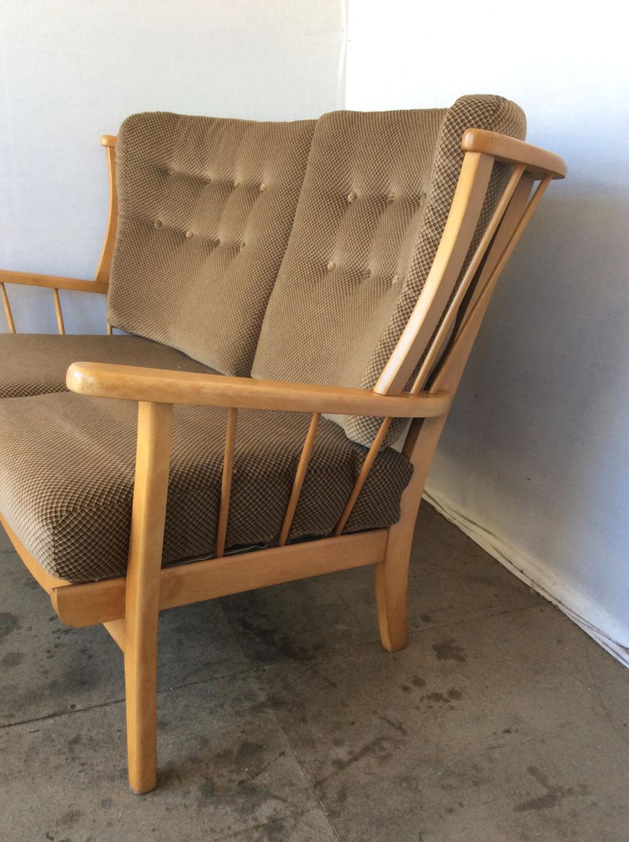 Beech elm three piece suite from priory furniture 1960s for Furniture 3 piece suites