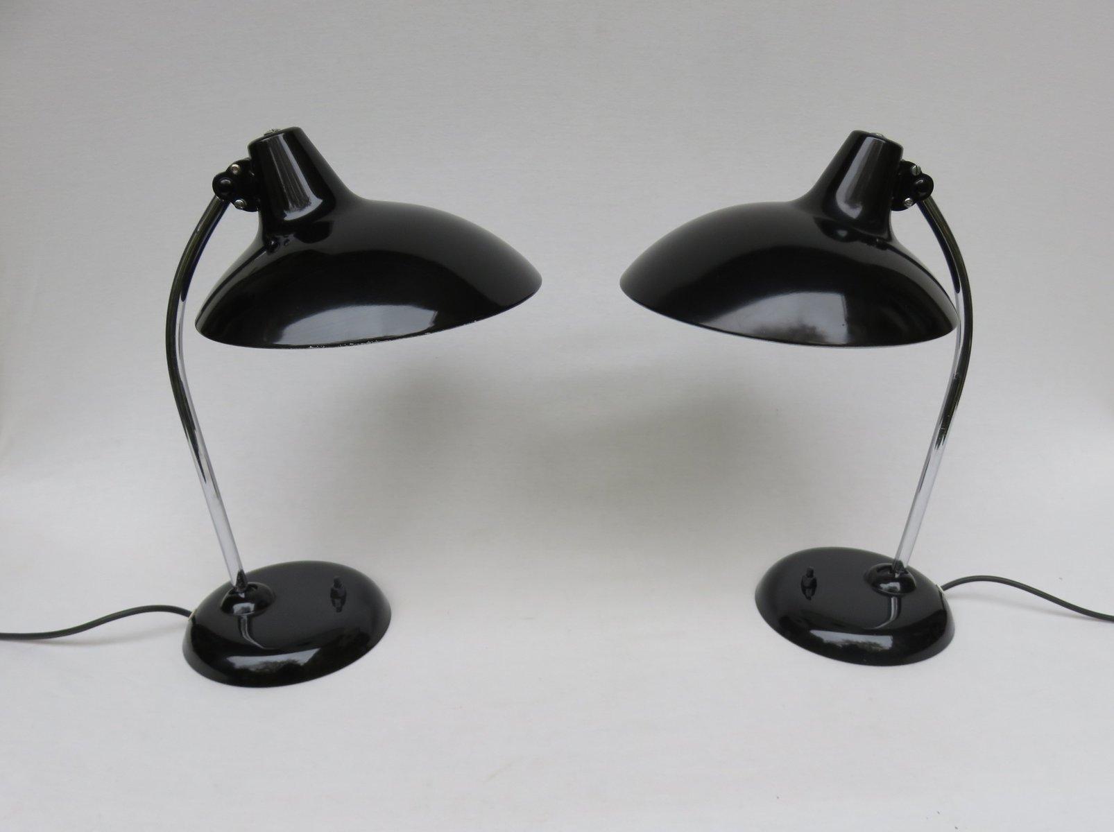 schwarze tischleuchten mit chrom von kaiser leuchten. Black Bedroom Furniture Sets. Home Design Ideas
