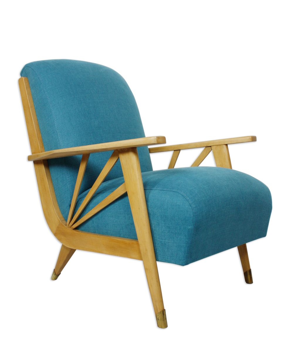 Vintage french lounge chair 1950s for sale at pamono for Vintage parisian lounge