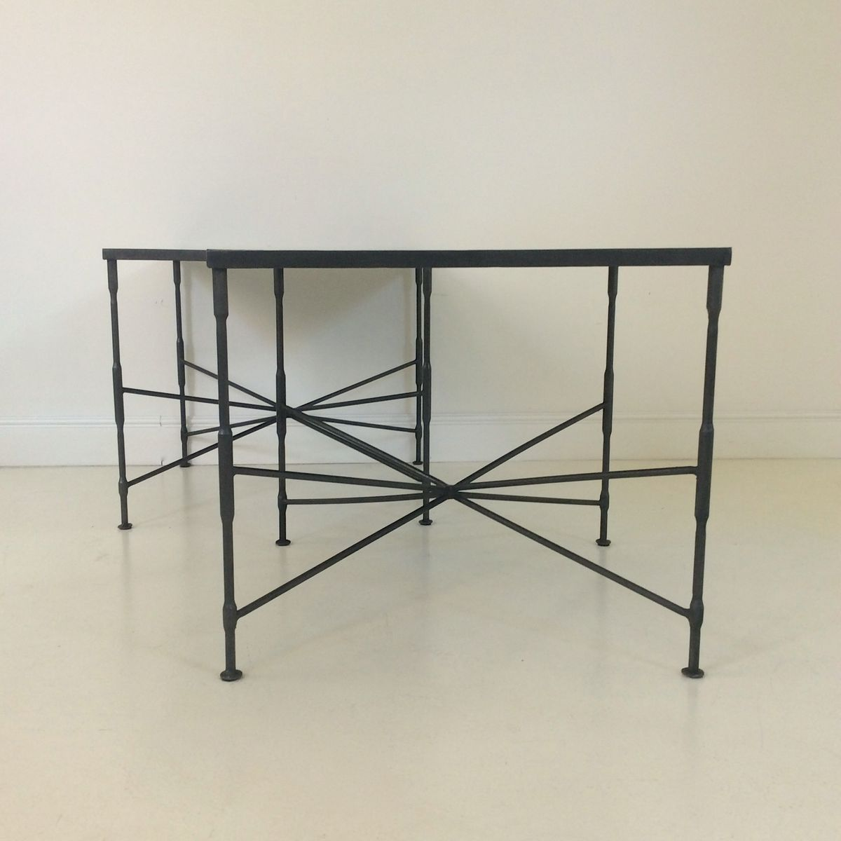 Black Metal Coffee Tables 1970s Set Of 2 For Sale At Pamono