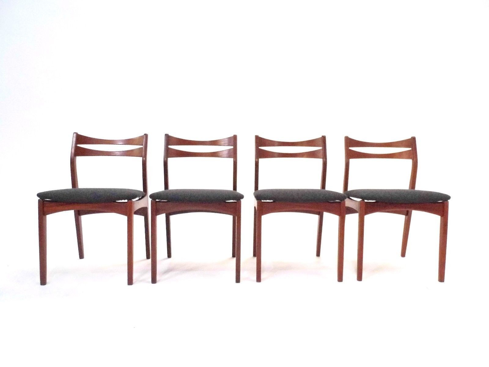 Danish teak camira charcoal grey dining chairs from g for G plan teak dining room chairs