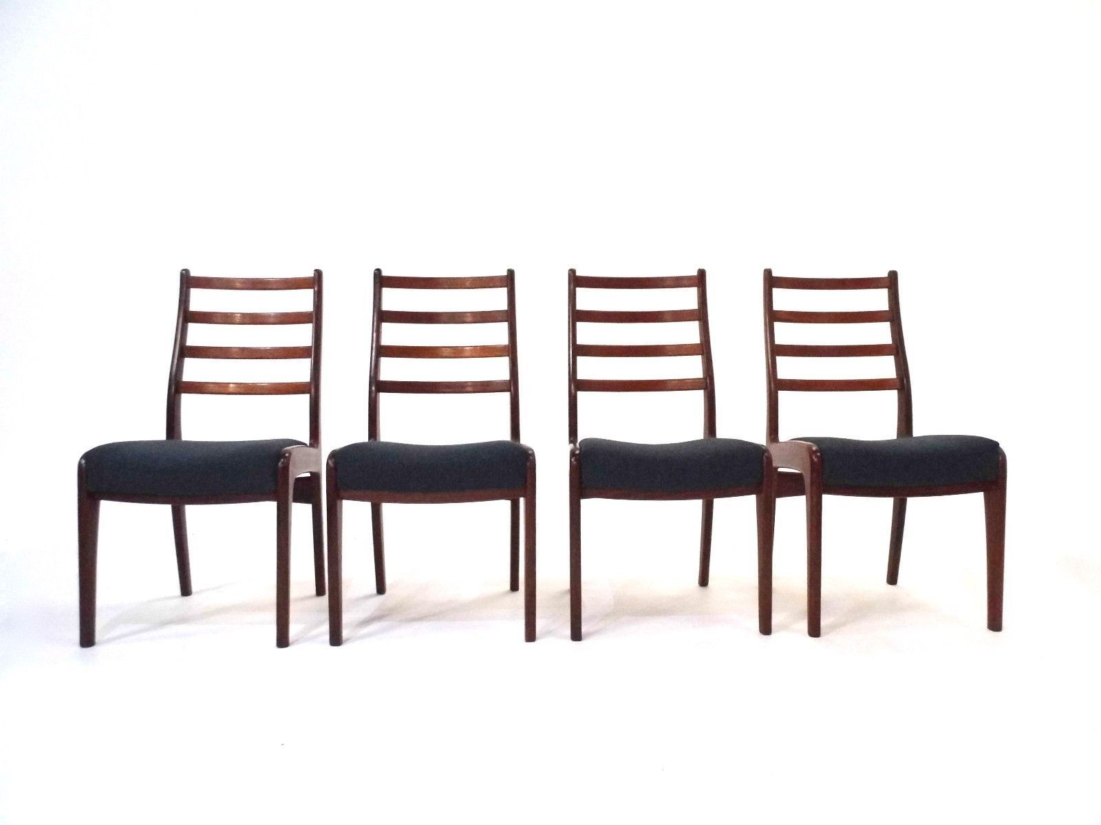 British teak blue wool dining chairs from g plan 1960s for G plan teak dining room chairs