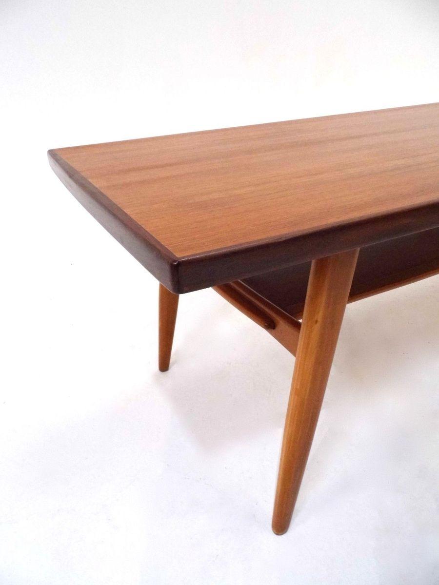 norwegischer teak couchtisch mit ablage 1960er bei pamono kaufen. Black Bedroom Furniture Sets. Home Design Ideas
