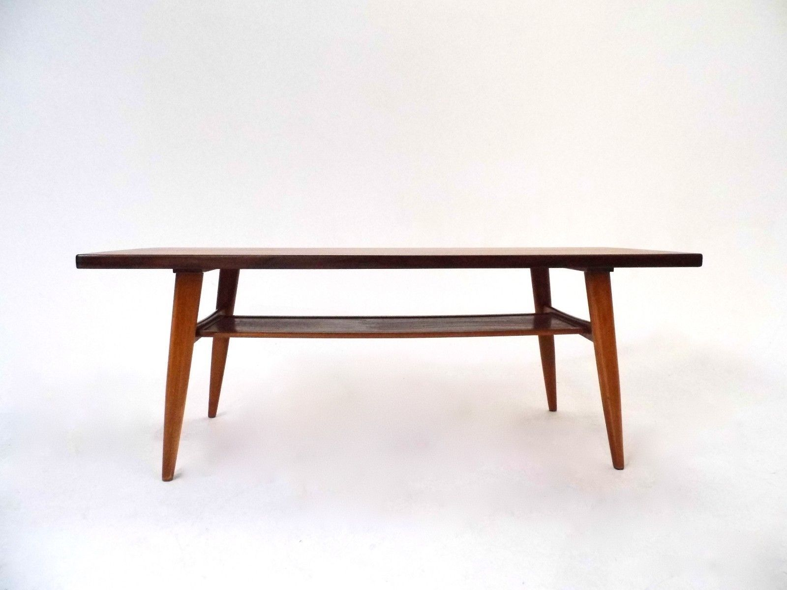 Norwegian Teak Coffee Table with Shelf 1960s for sale at Pamono