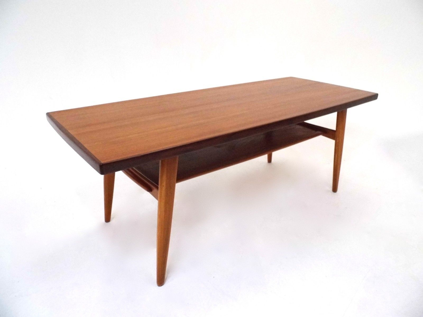 Norwegian teak coffee table with shelf 1960s for sale at pamono Coffee table with shelf