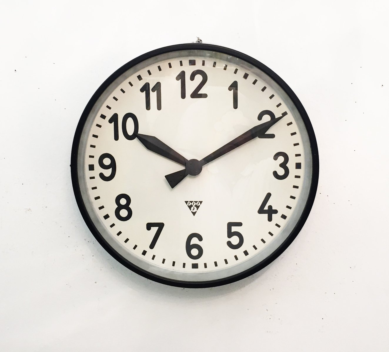 Shop one of a kind clocks online at pamono large industrial factory wall clock from pragatron 1950s amipublicfo Image collections