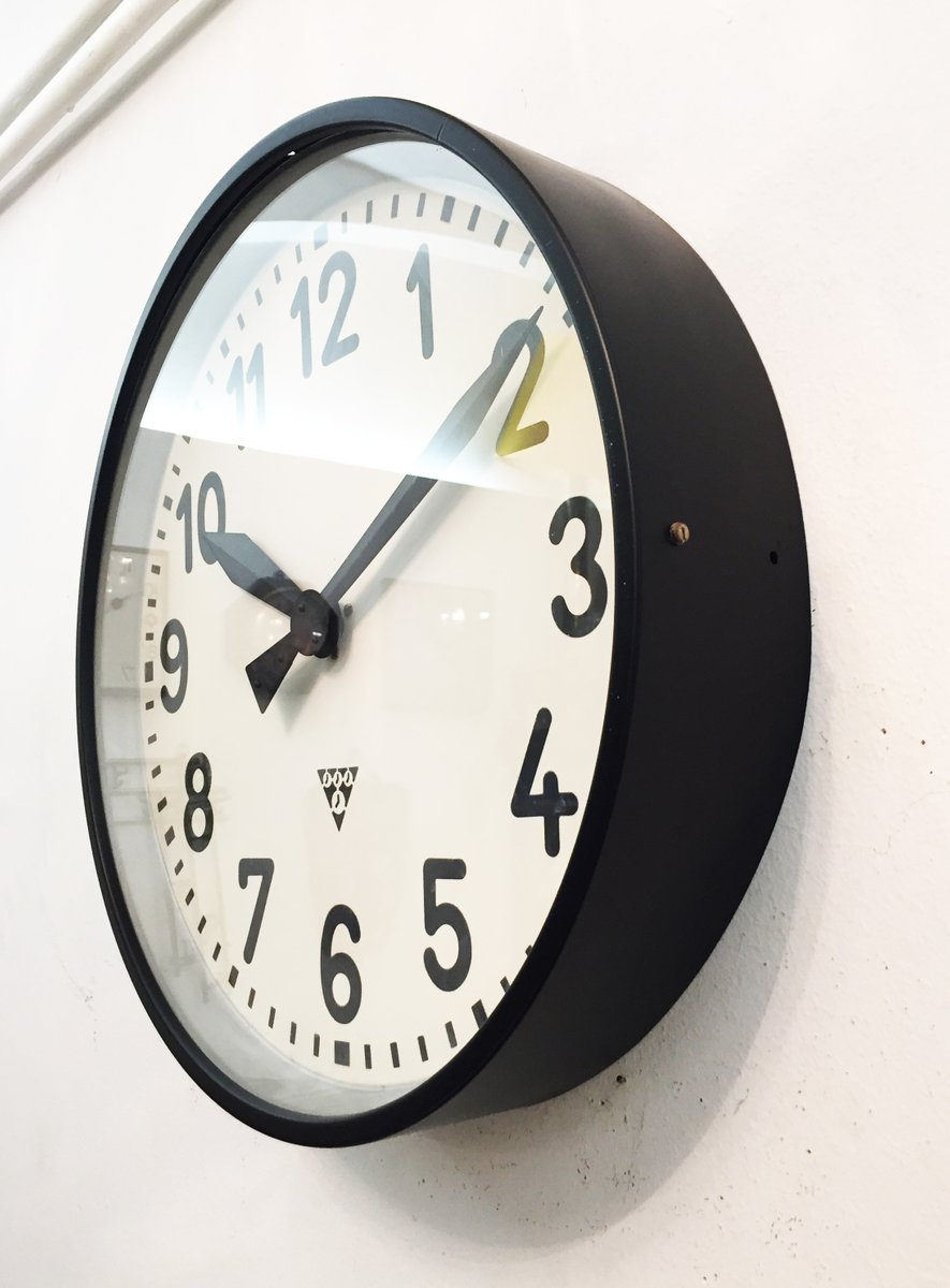 Large industrial factory wall clock from pragatron 1950s for sale large industrial factory wall clock from pragatron 1950s 3 previous amipublicfo Gallery