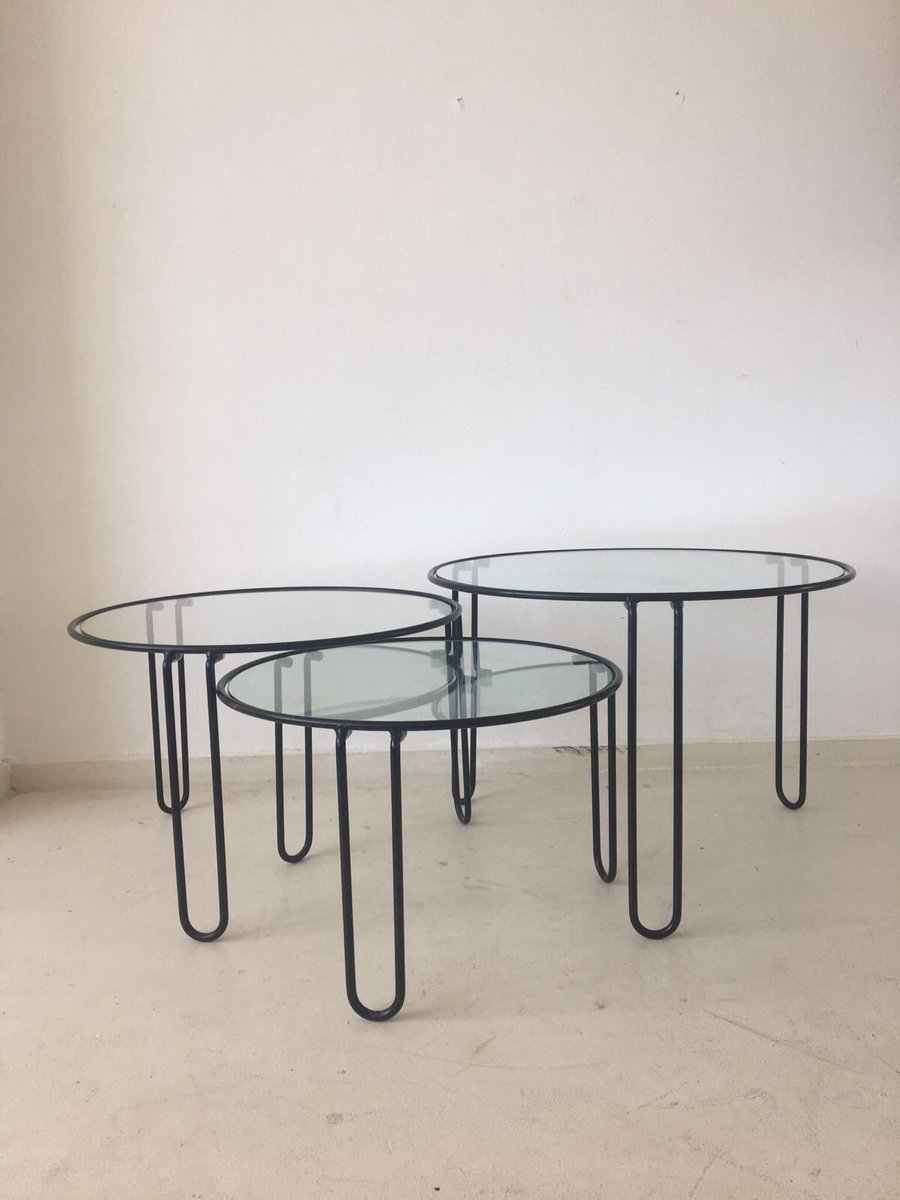 Mid Century Coffee Tables 1960s Set Of 3 For Sale At Pamono