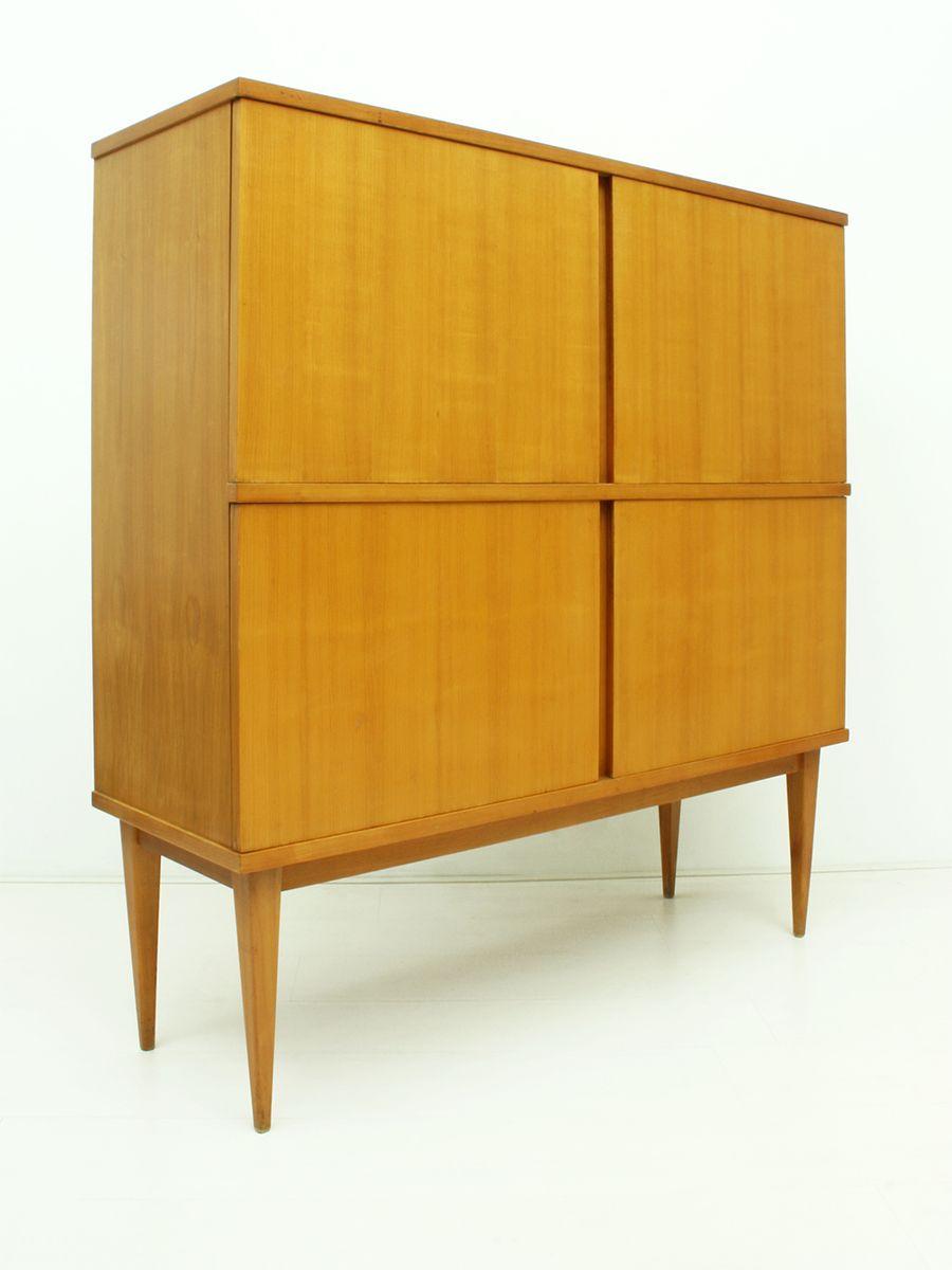 deutscher kirschholz schrank von wolfgang weber f r wk m bel 1962 bei pamono kaufen. Black Bedroom Furniture Sets. Home Design Ideas