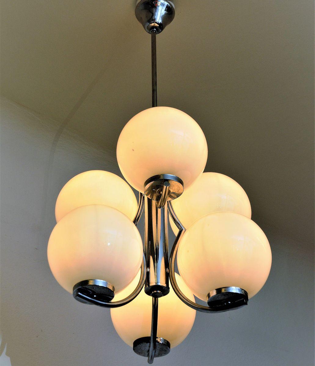 vintage deckenlampe aus glas bei pamono kaufen. Black Bedroom Furniture Sets. Home Design Ideas