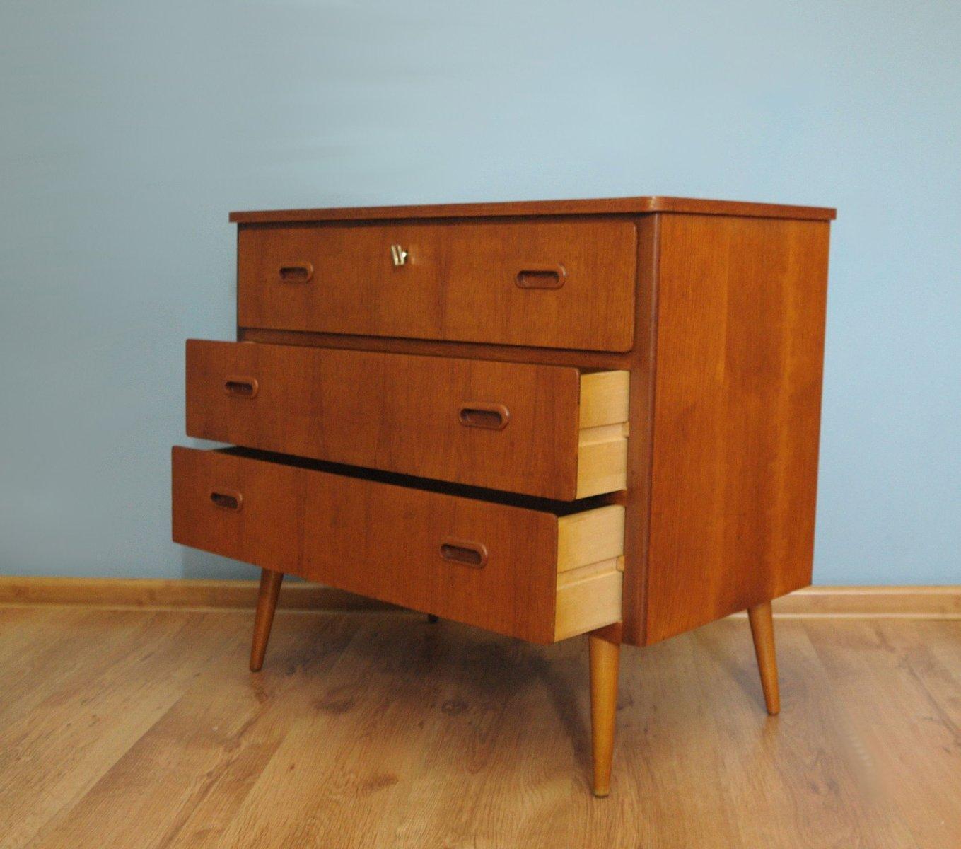 d nische teak kommode 1960er bei pamono kaufen. Black Bedroom Furniture Sets. Home Design Ideas