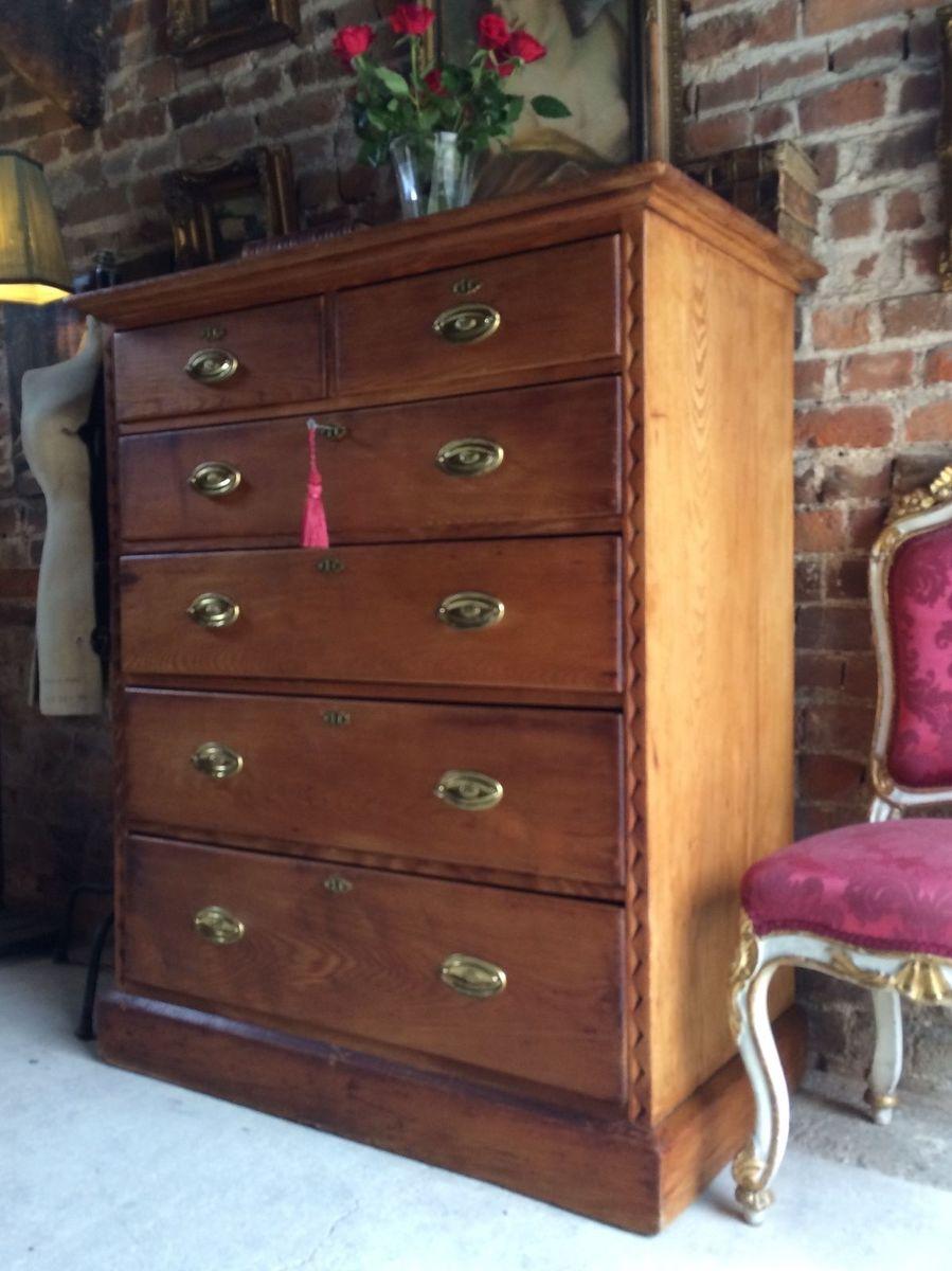 viktorianische gro e kiefernholz kommode bei pamono kaufen. Black Bedroom Furniture Sets. Home Design Ideas