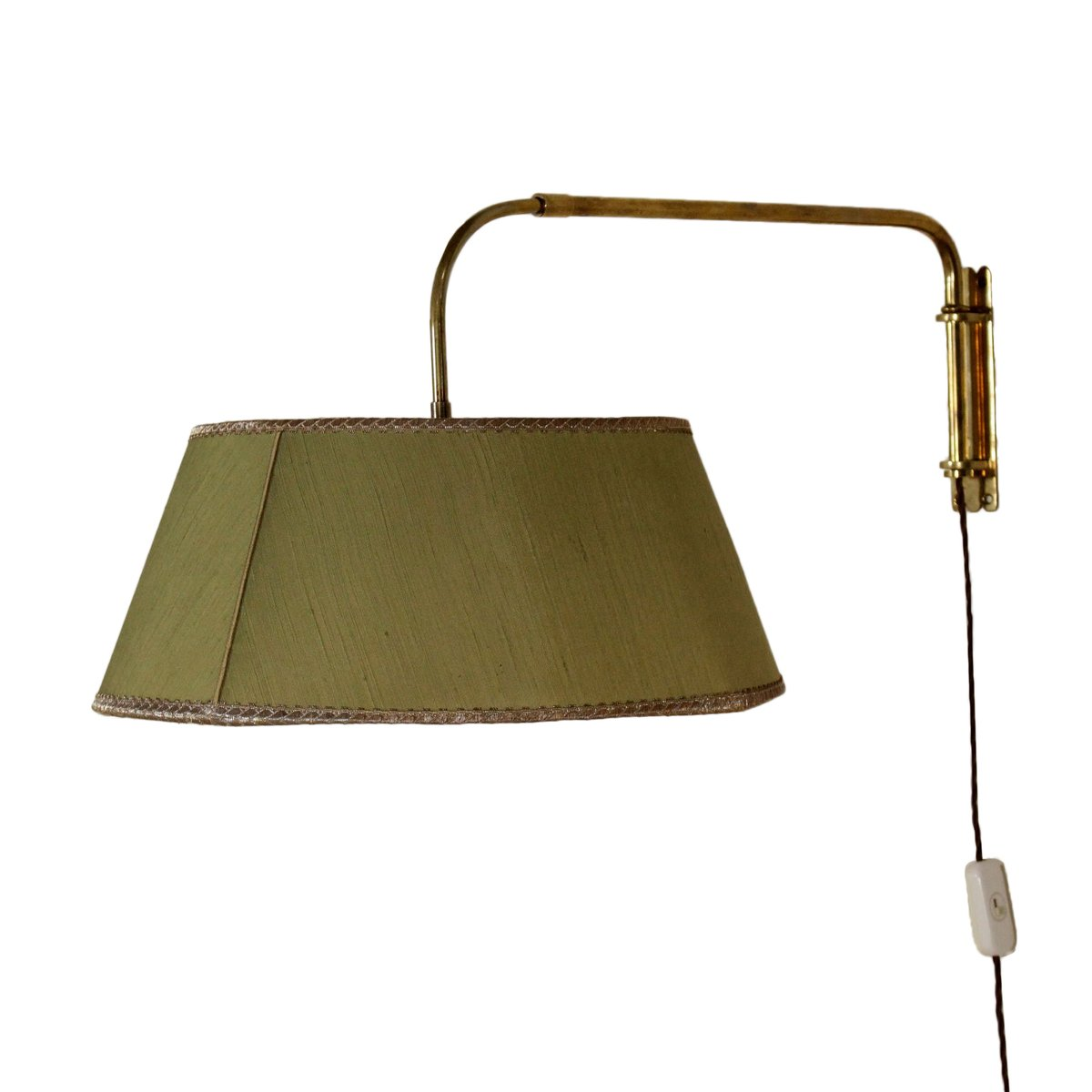 Wall Mounted Extendable Lamp : Extendable Brass Wall Lamp, 1950s for sale at Pamono