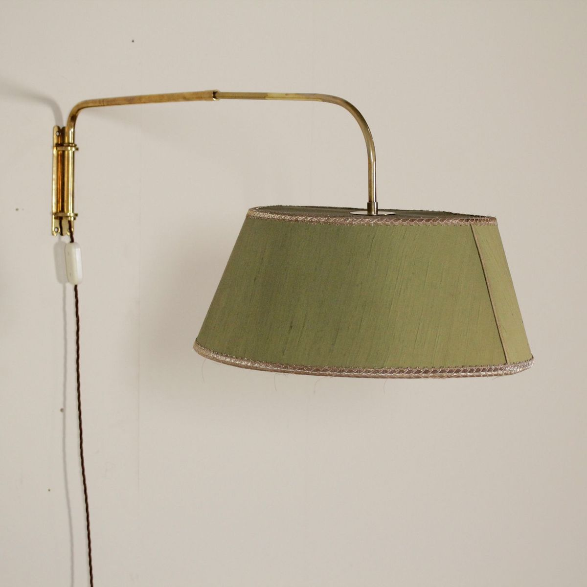 Extendable Brass Wall Lamp, 1950s for sale at Pamono