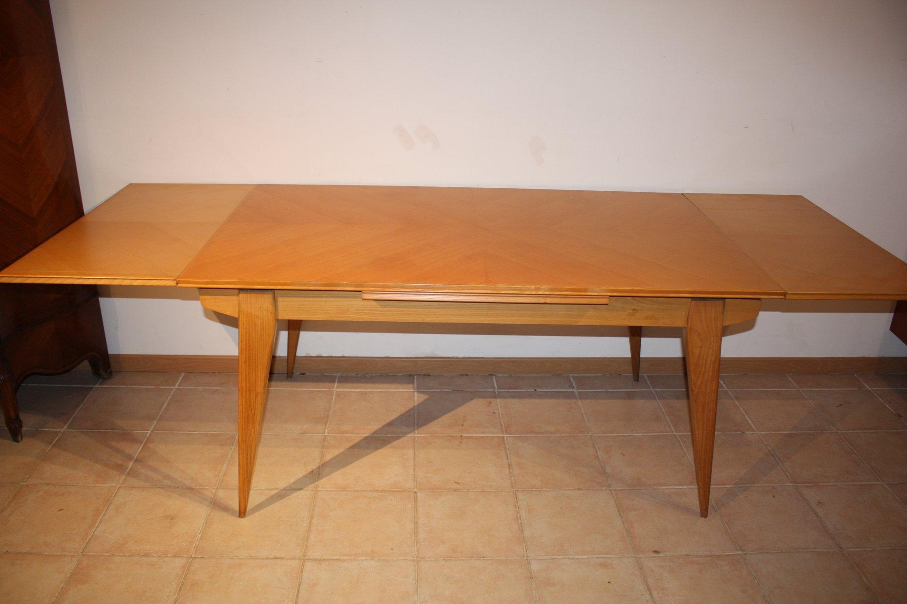 Vintage tisch aus bergahorn esche 1950er bei pamono kaufen for Tisch retro