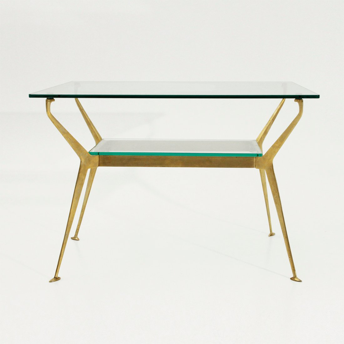 Brass And Glass Coffee Table 1950s For Sale At Pamono