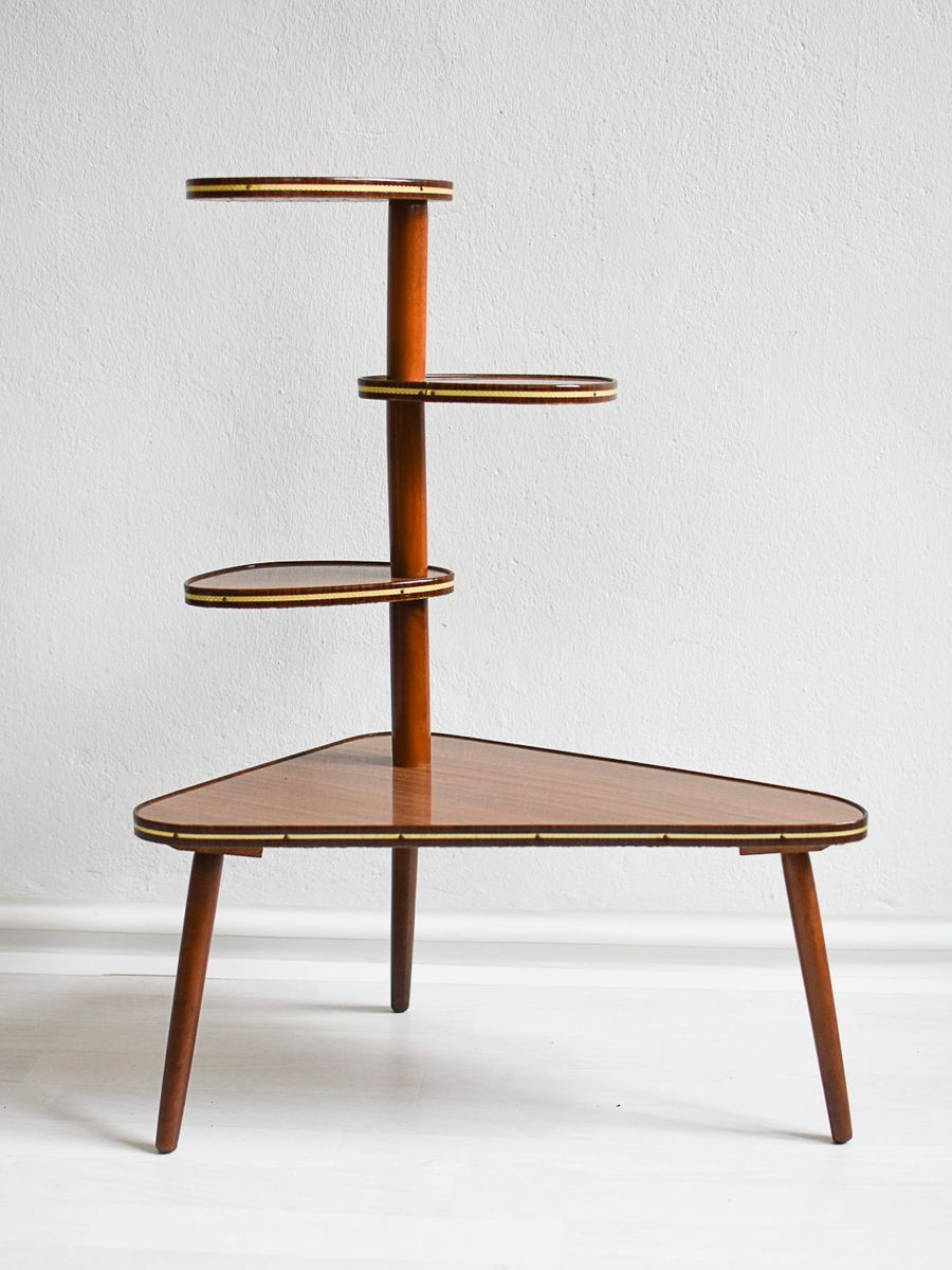 mid century plant stand for sale at pamono. Black Bedroom Furniture Sets. Home Design Ideas