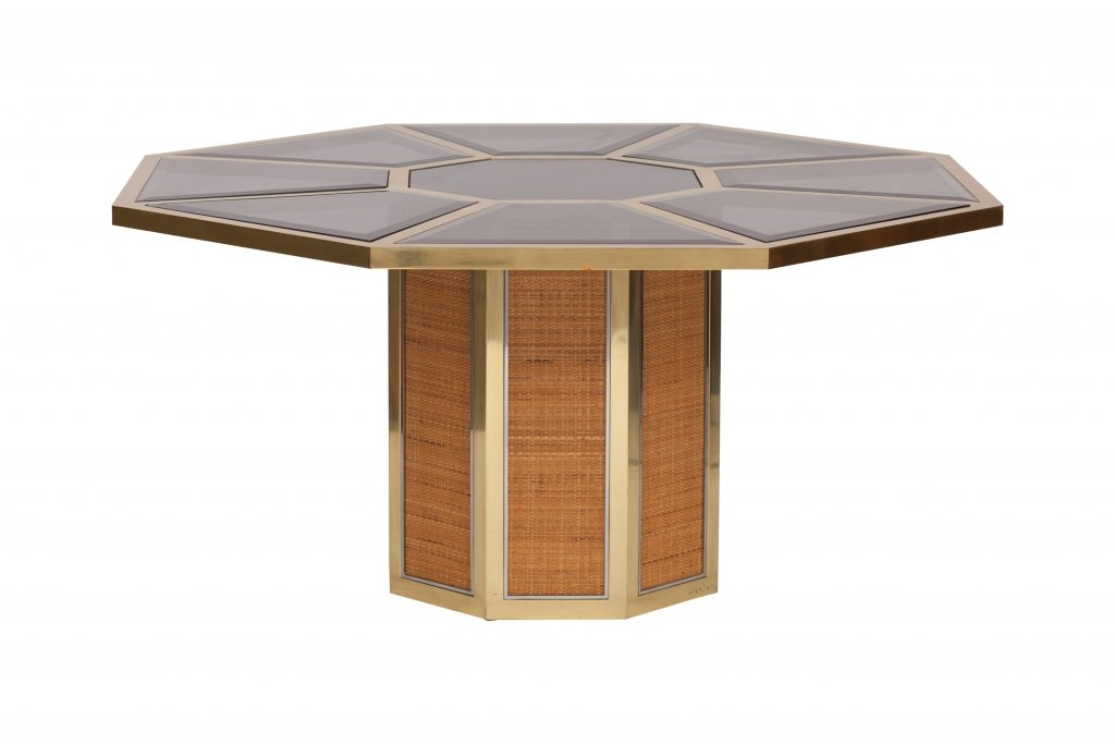 Italian glam octagonal dining table by romeo rega 1970s for Glam dining table