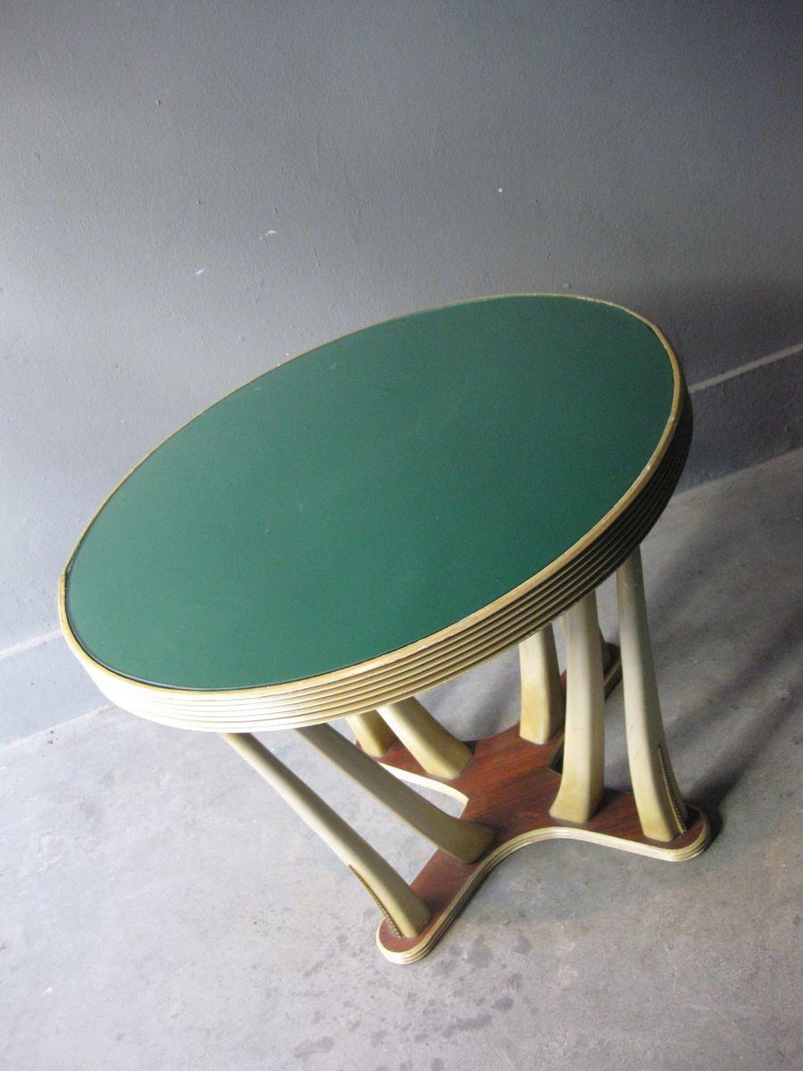 vintage art deco tisch aus holz glas bei pamono kaufen. Black Bedroom Furniture Sets. Home Design Ideas