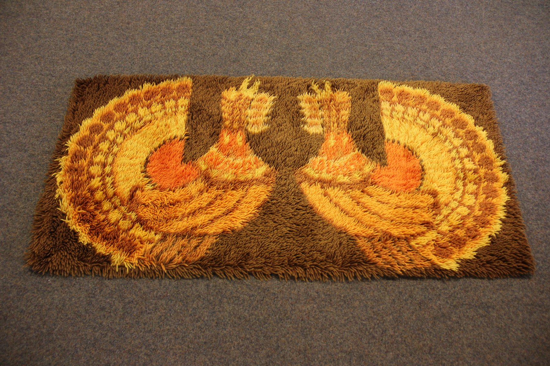 High Quality Vintage Rya Rug