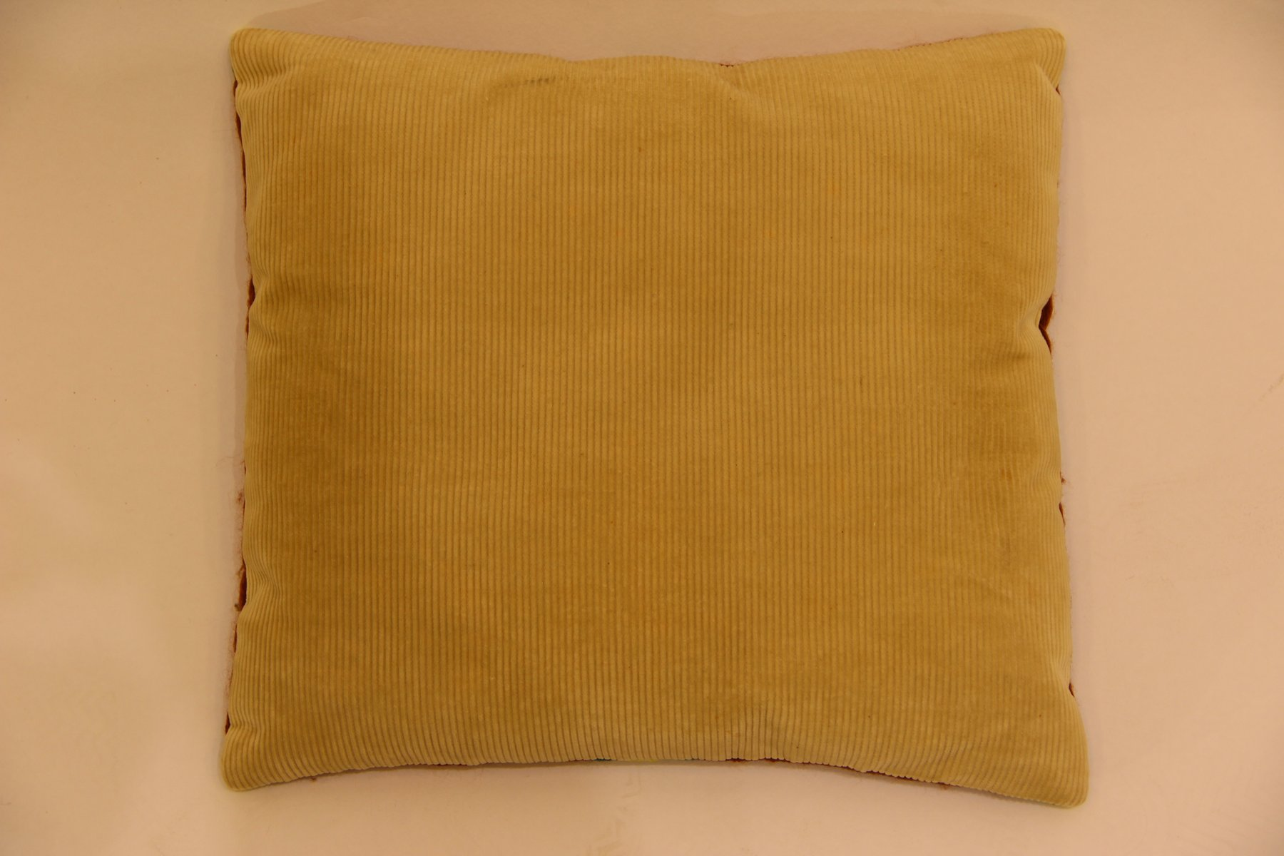 Vintage Hand Embroidered Sofa Cushion for sale at Pamono