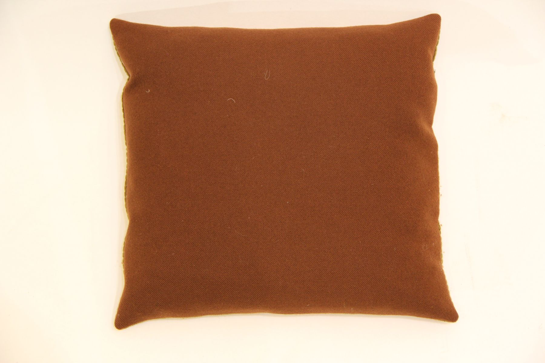 Vintage Danish Hand Embroidered Sofa Cushion for sale at Pamono