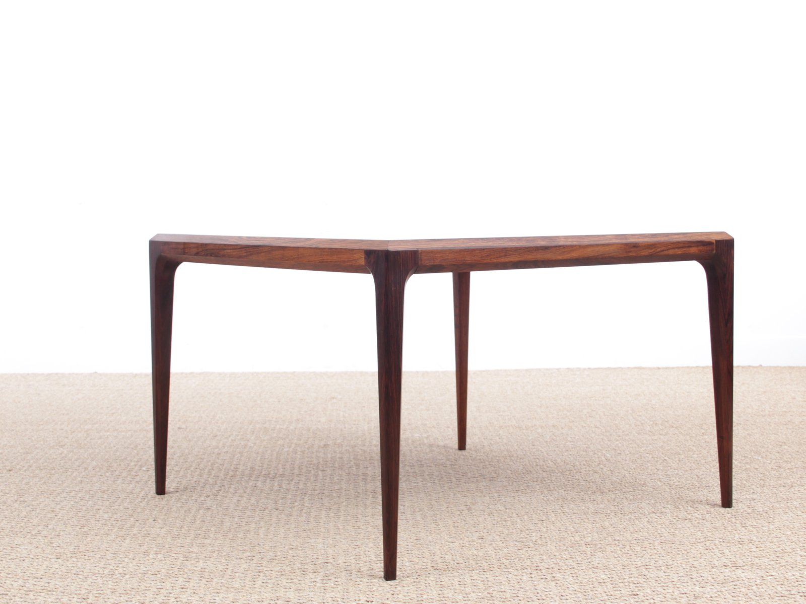 Danish Coffee Table In Rio Rosewood By Johannes Andersen For C F  Christiensen Silkeborg, 1960s