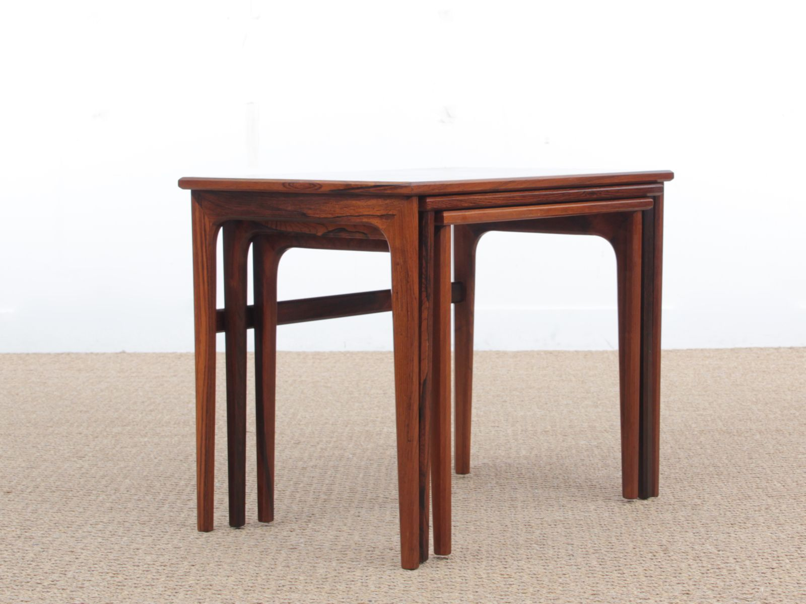midcentury modern scandinavian nesting tables in rio rosewood s. midcentury modern scandinavian nesting tables in rio rosewood