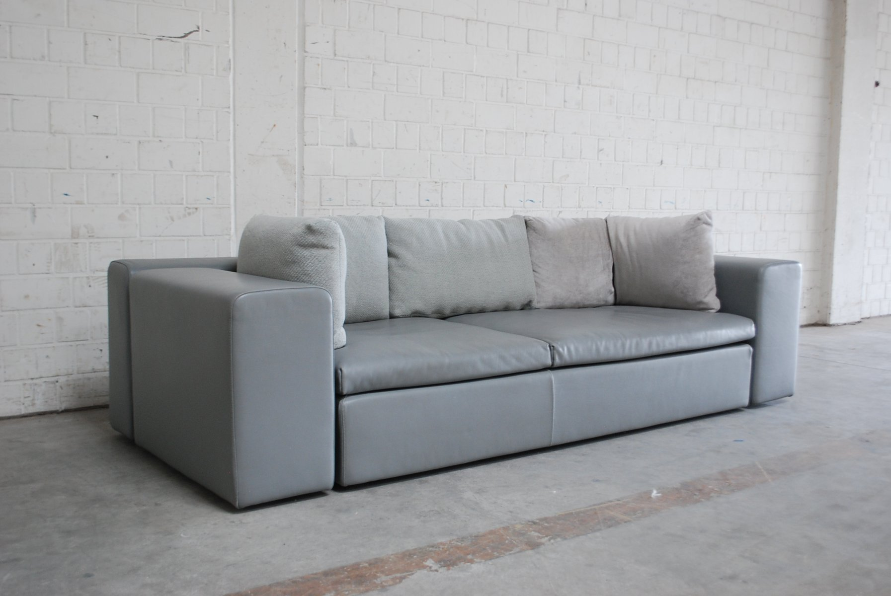 Vintage Leather Sofa by Patricia Urquiola for Moroso for sale at