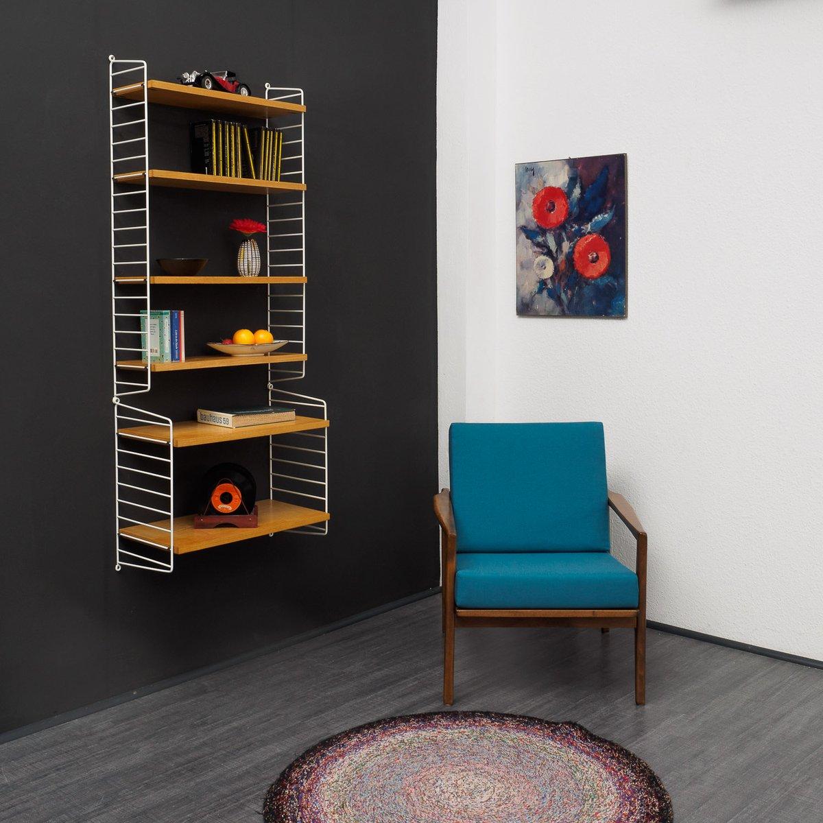 mid century string regalsystem aus esche von nisse strinning bei pamono kaufen. Black Bedroom Furniture Sets. Home Design Ideas