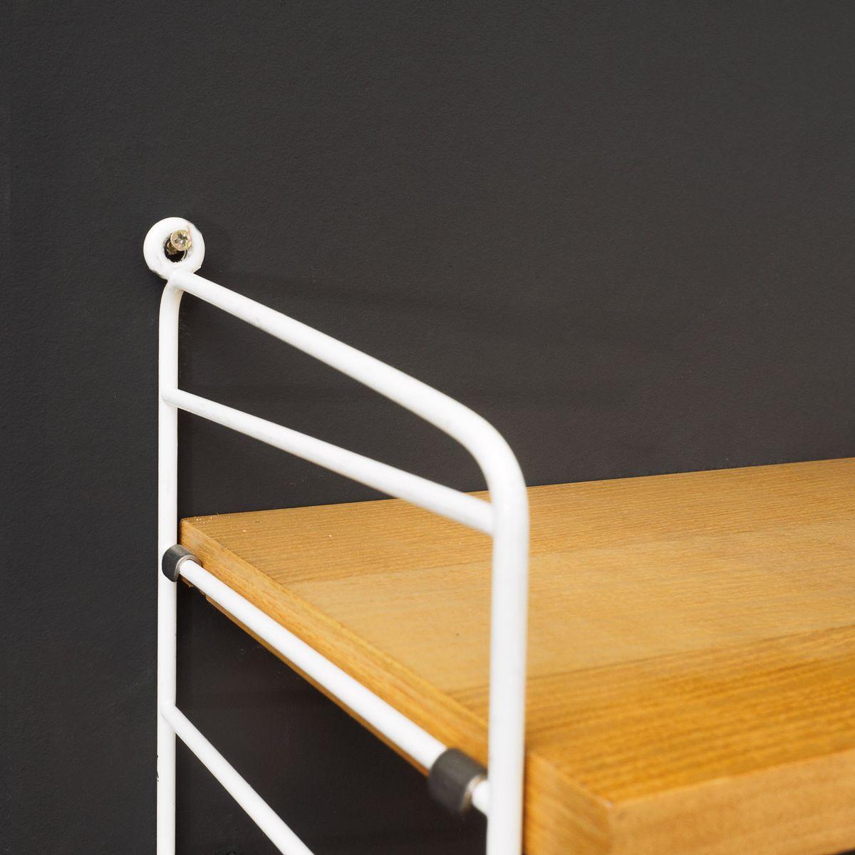 vintage string shelving system in ash by nisse strinning for sale at pamono. Black Bedroom Furniture Sets. Home Design Ideas