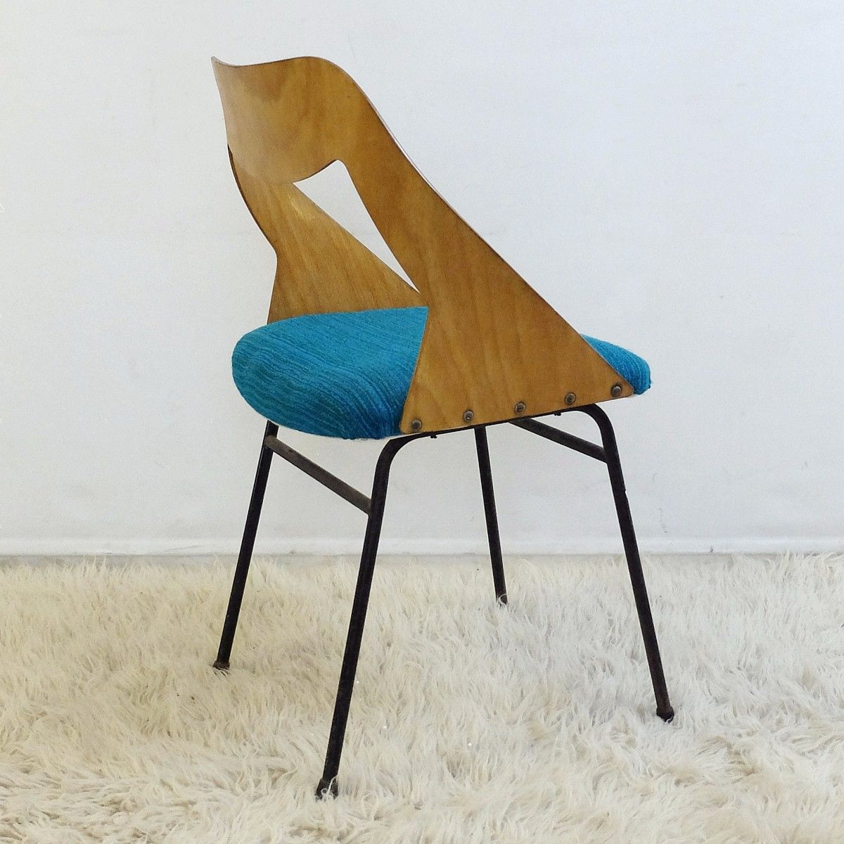 Mid century chair by louis paolozzi 1950s for sale at pamono for Z chair mid century
