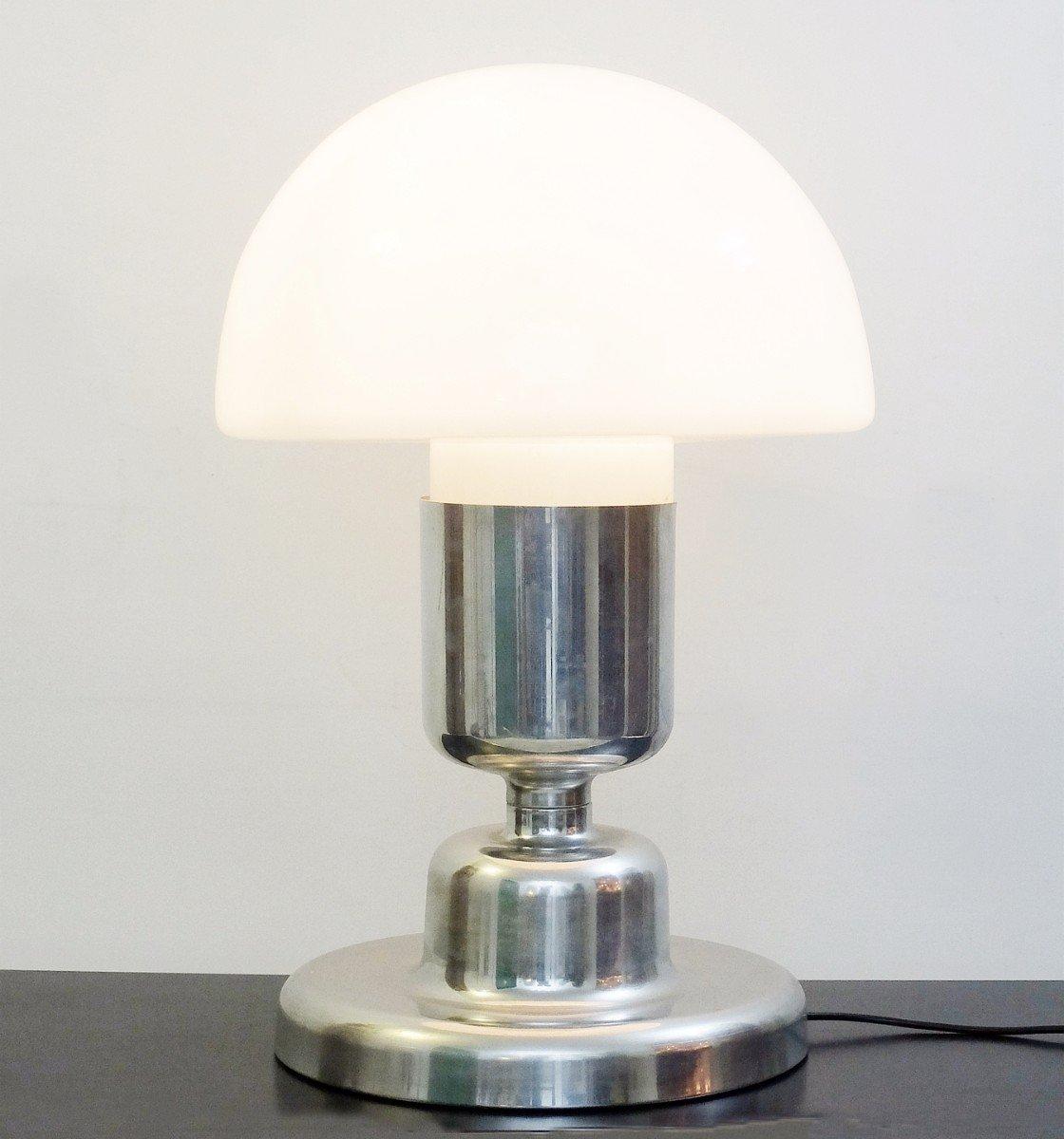 vintage chrom glas tischlampe von doria leuchten 1970er bei pamono kaufen. Black Bedroom Furniture Sets. Home Design Ideas