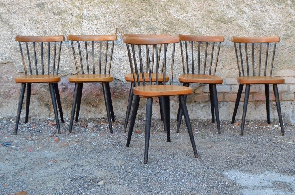 Dining chairs 1960s set of 6 for sale at pamono for Table bois nordique
