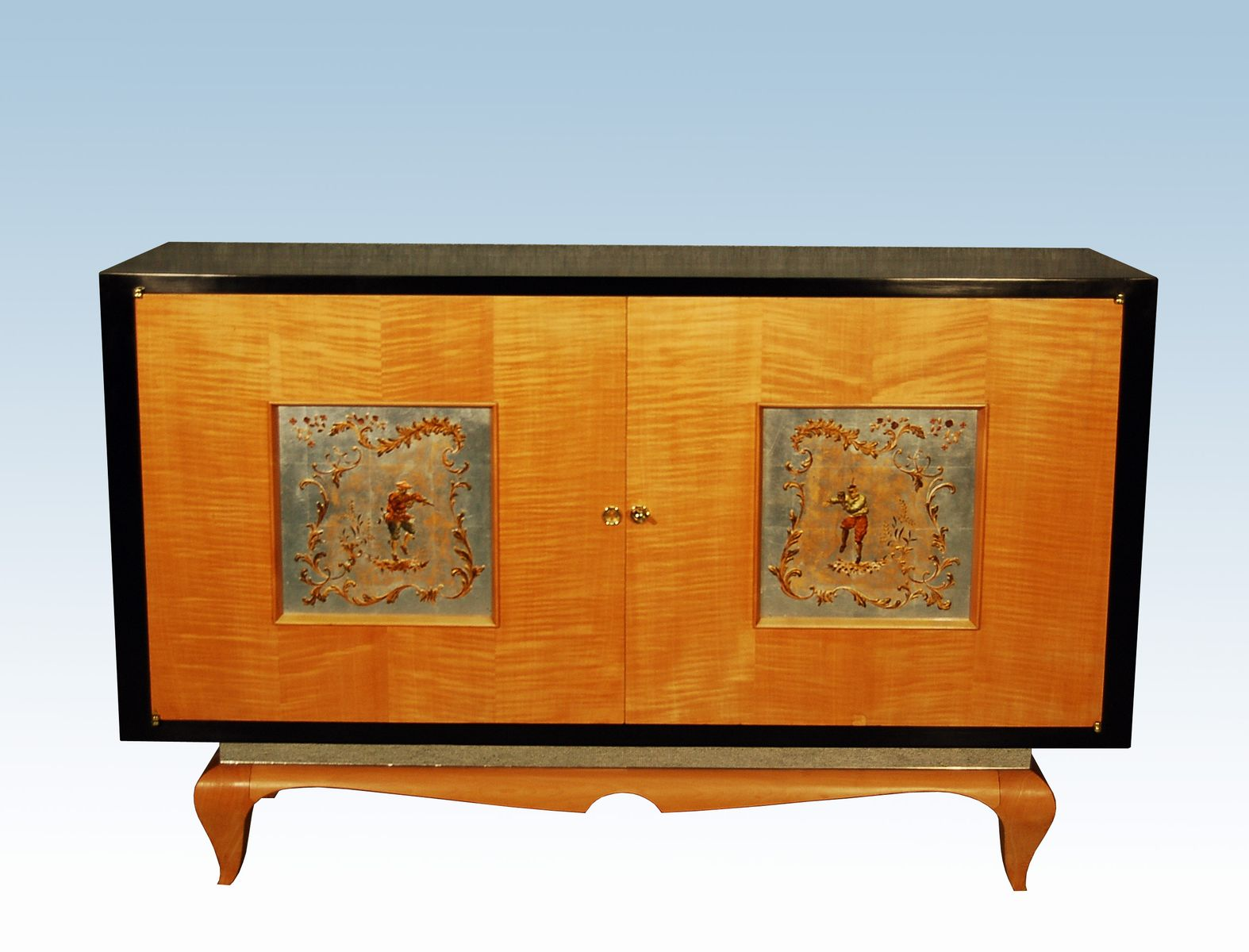 vintage french art d co sycamore cabinet 1940s for sale at pamono. Black Bedroom Furniture Sets. Home Design Ideas
