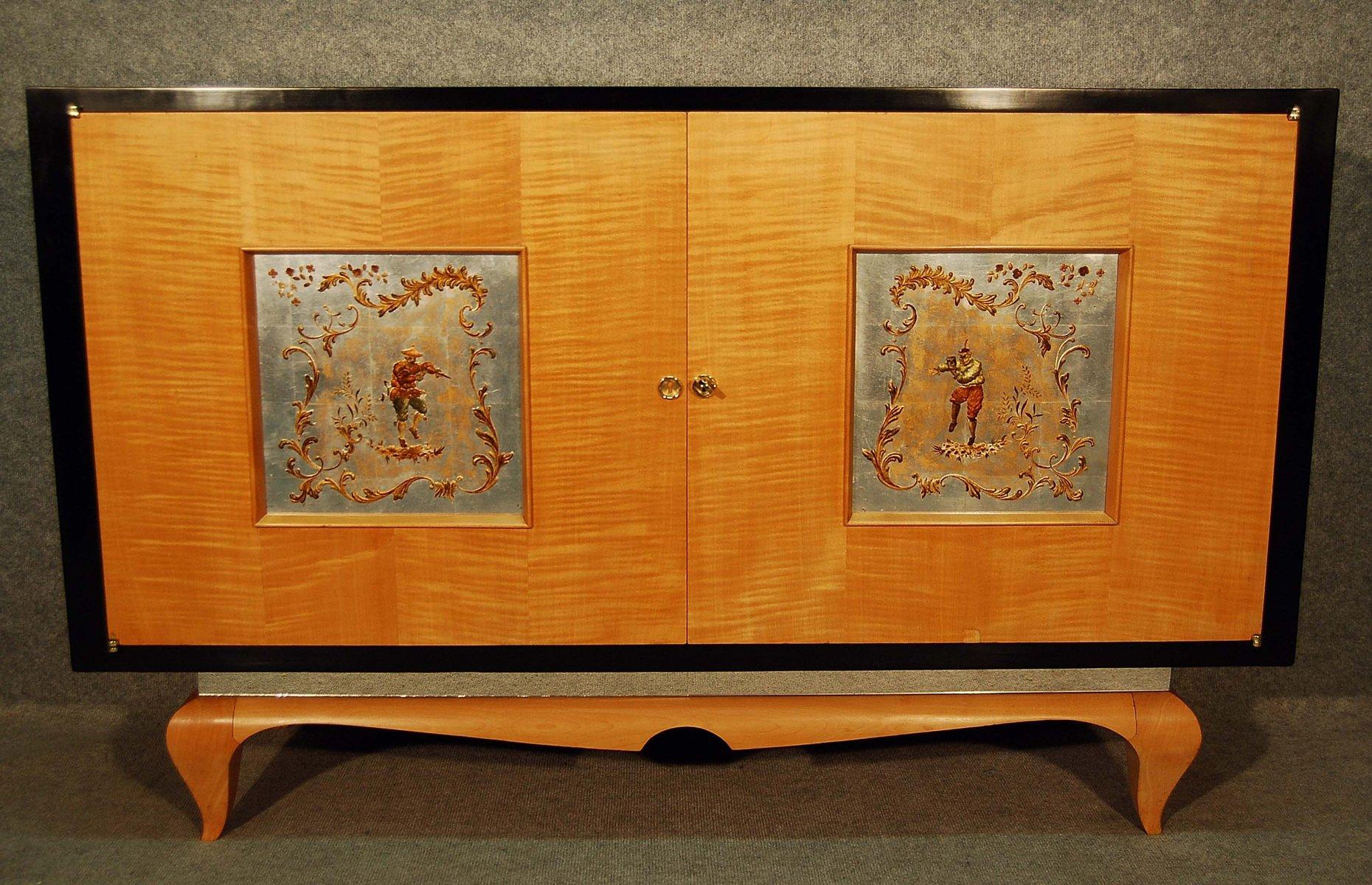vintage french art d co sycamore cabinet 1940s for sale. Black Bedroom Furniture Sets. Home Design Ideas