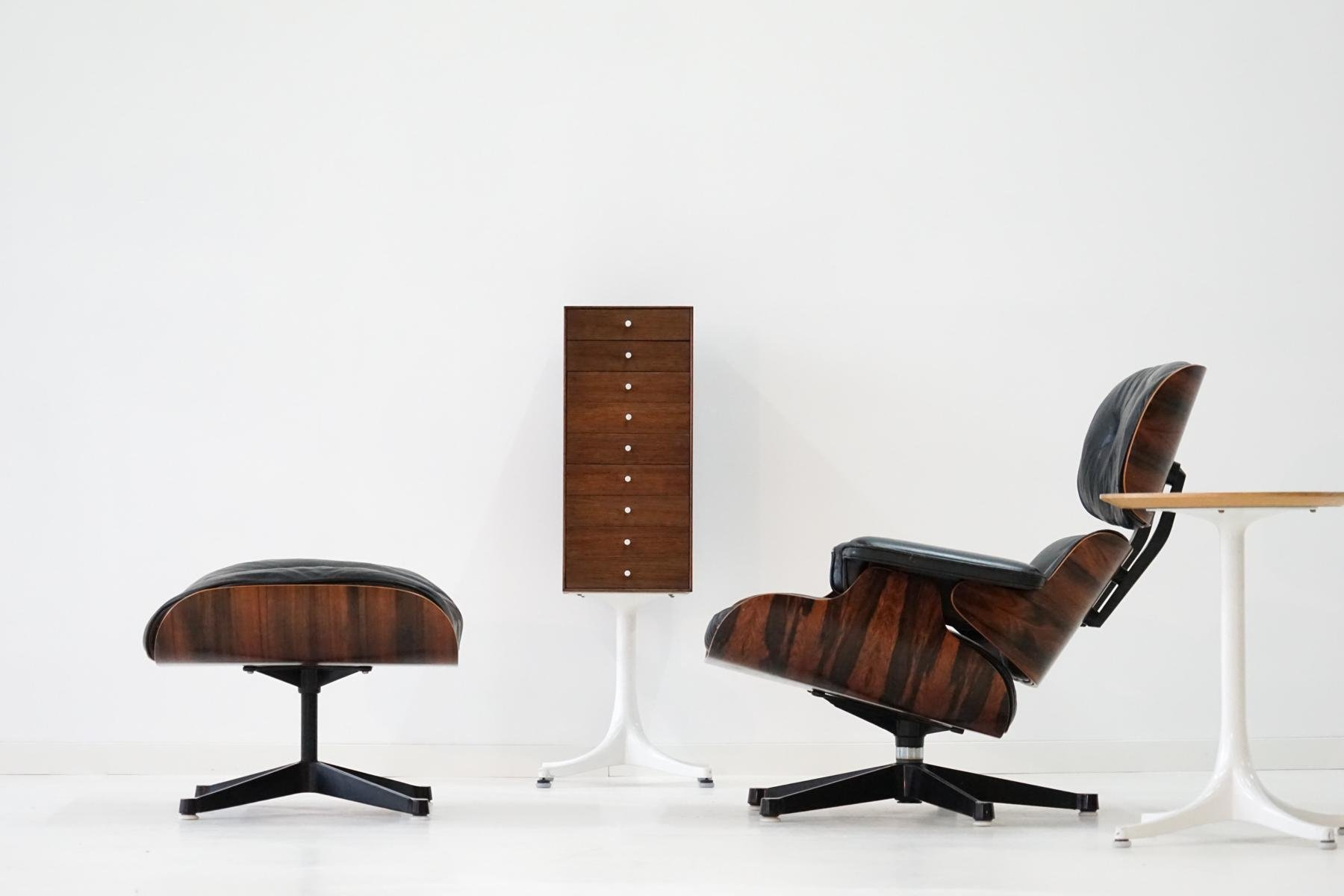 lounge chair ottoman by charles and ray eames for herman miller 1960s for sale at pamono. Black Bedroom Furniture Sets. Home Design Ideas
