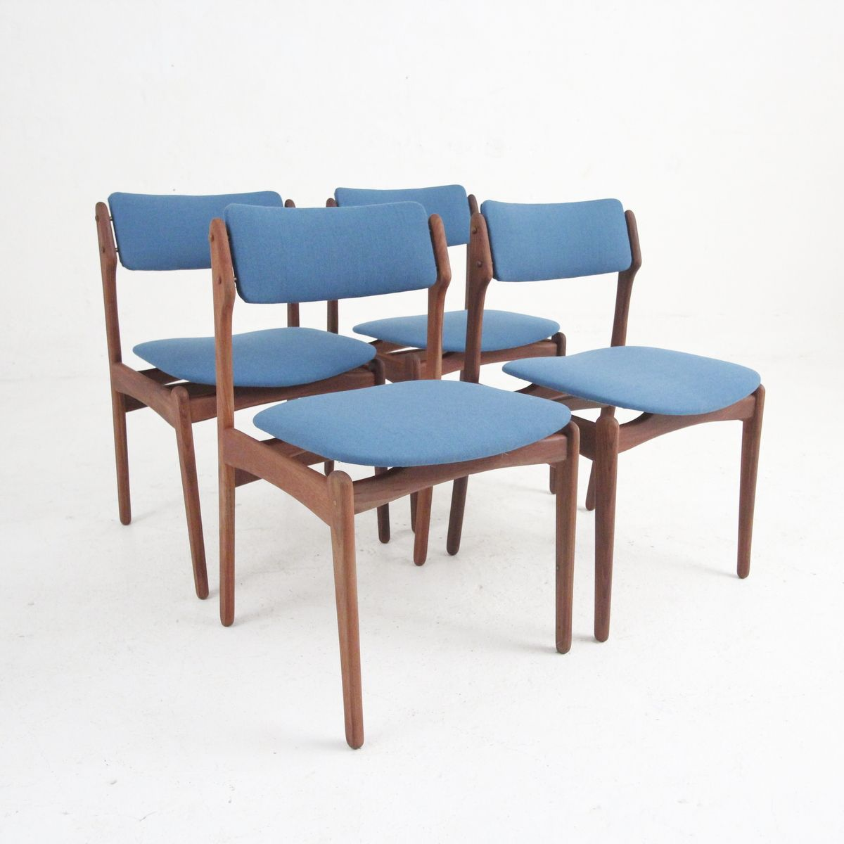 Vintage Danish Modern Dining Chairs In Rosewood, Set Of 4