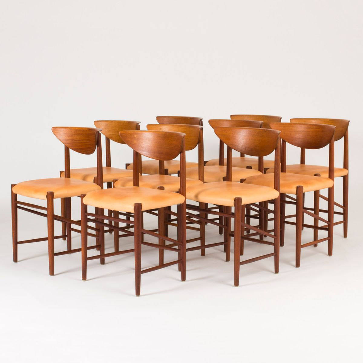 Dining Chairs By Peter Hvidt And Orla Møllgaard For Søborg Møbelfabrik 1950s Set Of 10 At Pamono