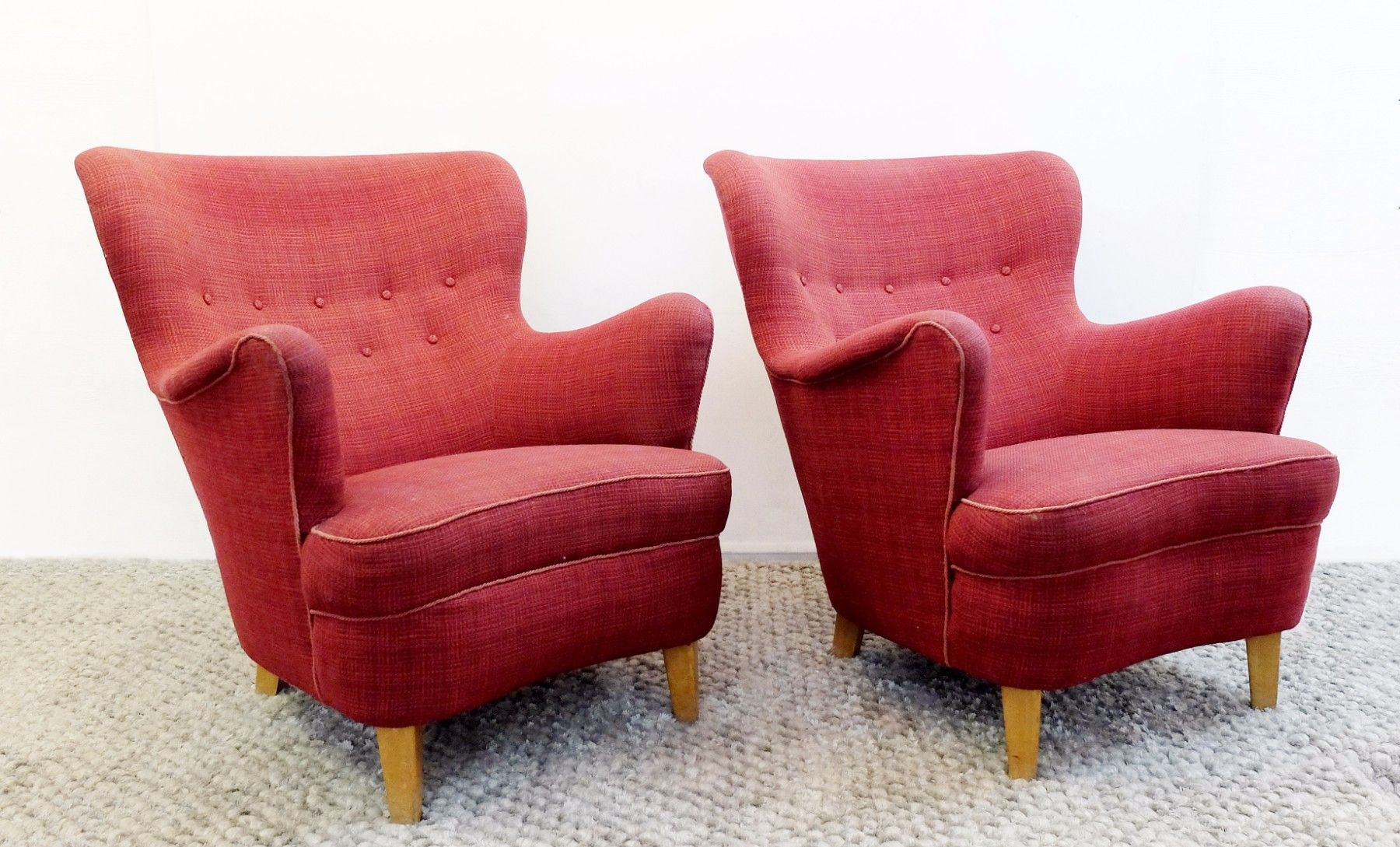 Vintage Armchairs By Carl Malmsten For O.H. Sjogren, Set Of 2 For Sale At  Pamono