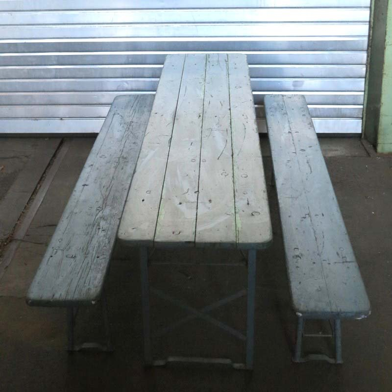 Vintage Wooden Folding Dining Table 1950s for sale at Pamono