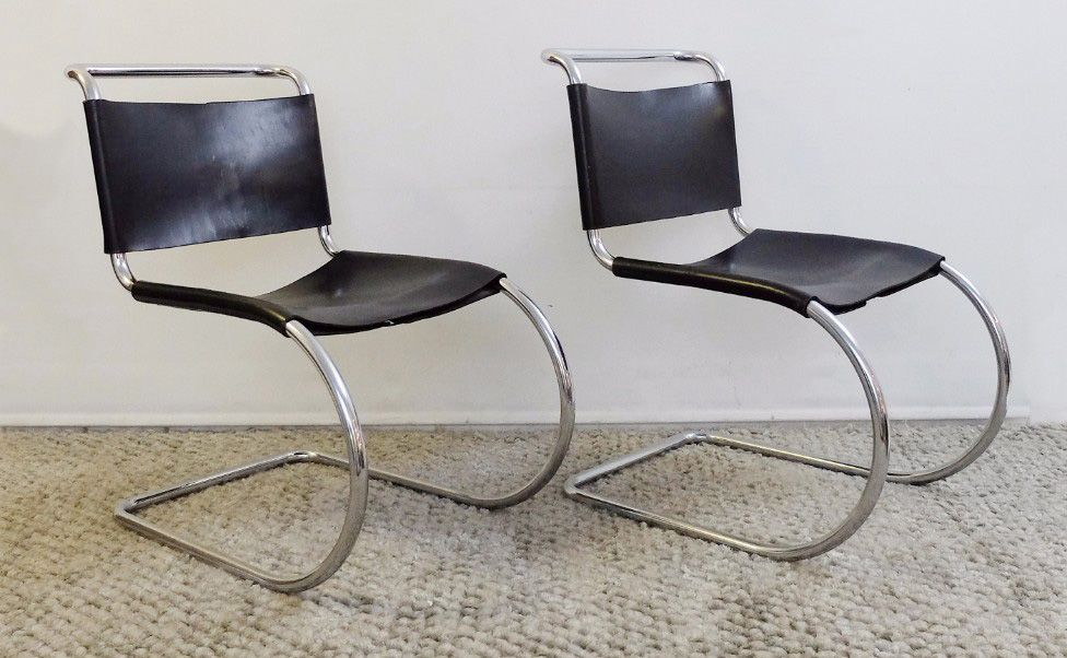 Vintage mr 10 dining chairs by mies van der rohe for knoll set of 4 for sale at pamono - Knoll inc chairs ...