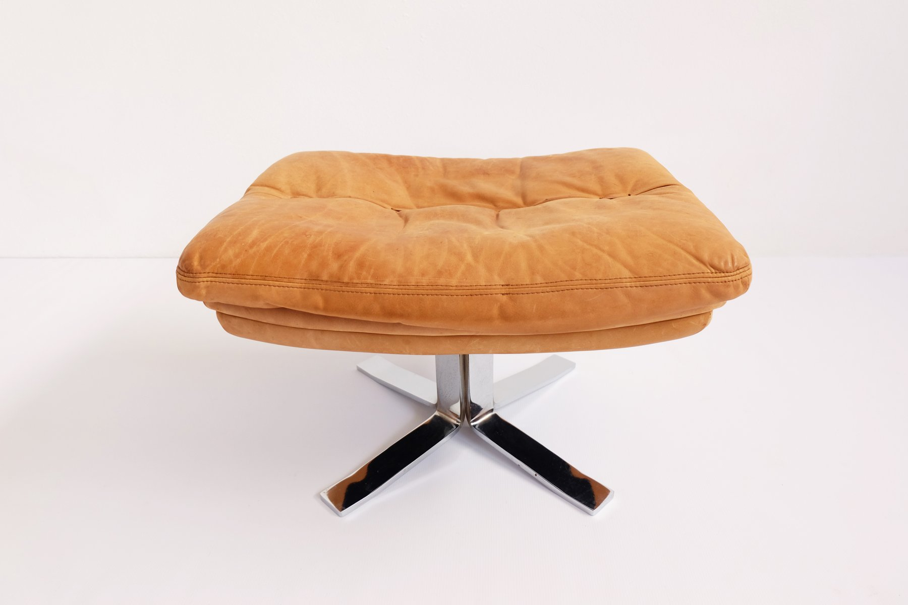 Swiss Leather Stool 1960s : brown leather stool - islam-shia.org