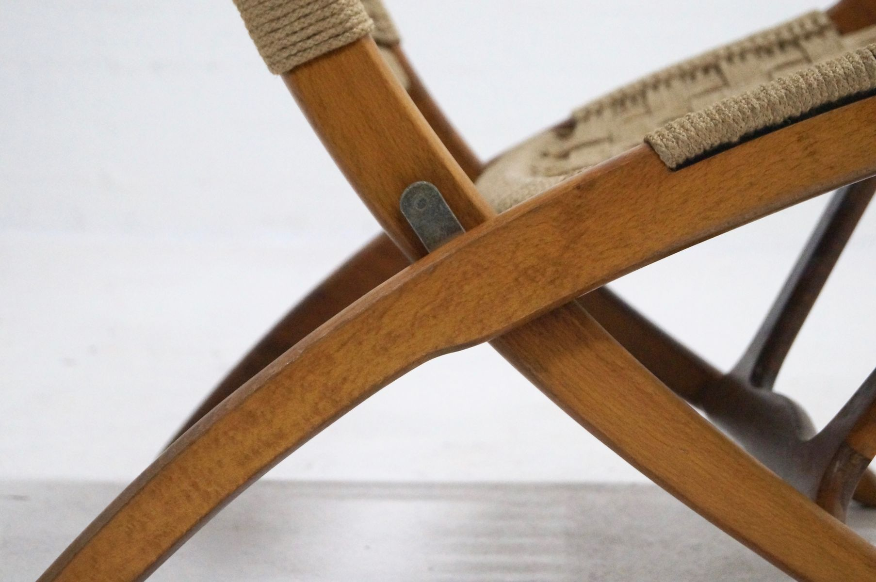 Folding Rope Chair by Ebert Wels 1960s for sale at Pamono
